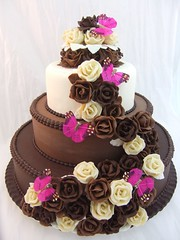 Chocolate wedding cake photo by Crazy Cake - Cakedesigner57