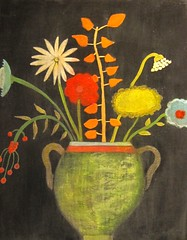 FOLK ART STILL LIFE FLOWERS ACRYLIC PAINTING EXPLORED photo by peregrine blue