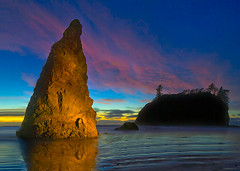 Painted Light Ruby Beach Olympic National Park photo by kevin mcneal