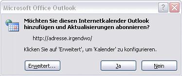 OutlookInternetKalenderHinzufuegen