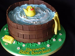 Washtub baby shower cake photo by JaneBK