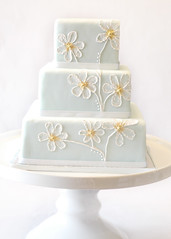 painted wedding cake photo by thelushcake
