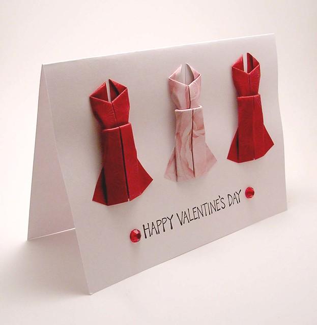valentine origami card « embroidery  origami