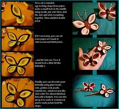*Tsumami Kanzashi Tutorial: Butterfly* part 3 photo by Hatsu-chan^^