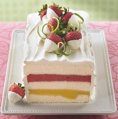 Mango-Strawberry Sorbet Torte Recipe photo by Betty Crocker Recipes