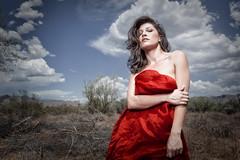 Kym in the desert photo by geroco