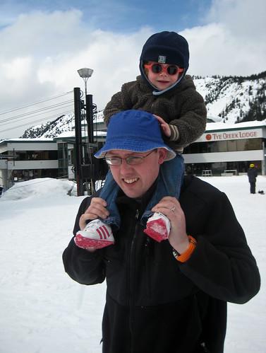 Graeme & Amelie at Stevens Pass