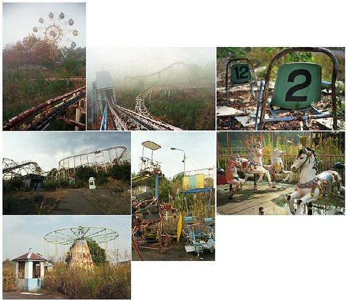 Parque atracciones abandonado