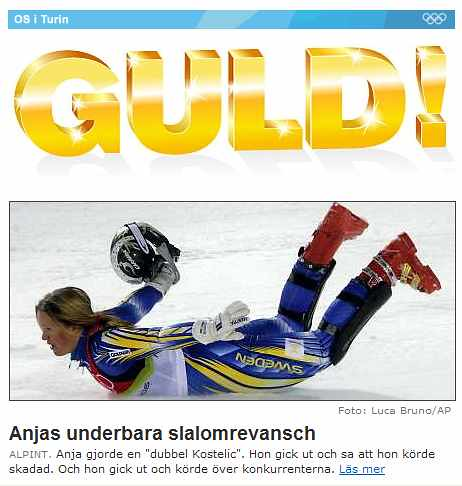 Pingvinpåverkad Anja Pärsson