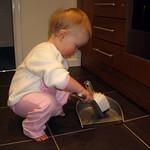 Helping mum tidy up<br/>22 Feb 2006