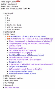 My Optimal OPML file