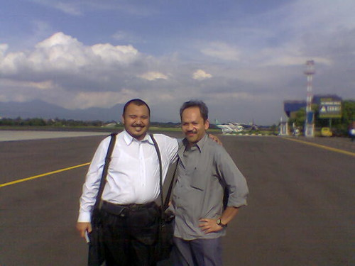 Dims and BR at Husein Airport, Bandung