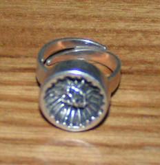 Svensk silverring från 70-talet.