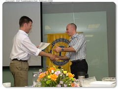Brent Combrink awards my speech