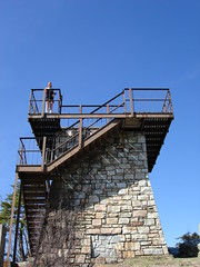 Observation tower at Hanging Rock State Park