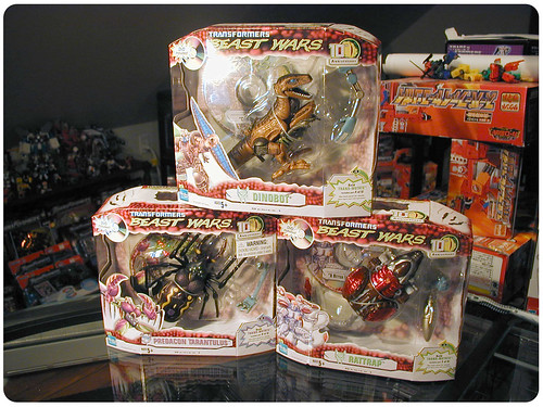 Beast Wars 10th Ann. Dinobot, Tarantulus, and Rattrap