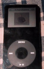 Podcast image expanded on Ipod