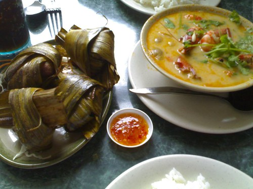 Pandan Leaf Chicken and Tom Yum Soup