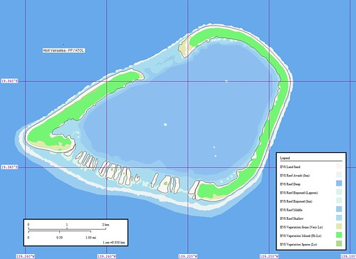 Atoll Vairaatea - Map