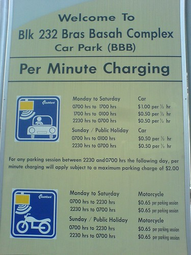 Parking at Bras Basah Complex