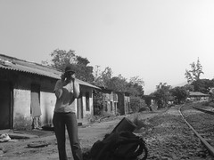 Madhavi taking a snap