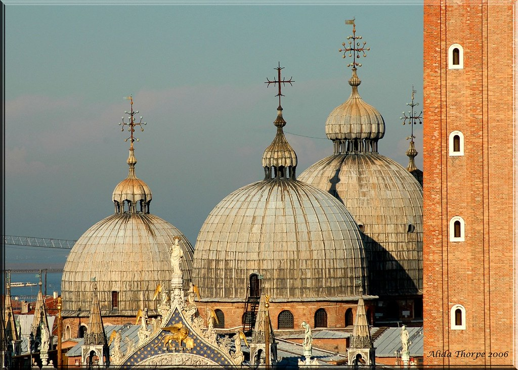 A skyline of domes