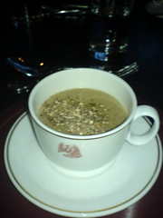 capuccino of mushroom soup