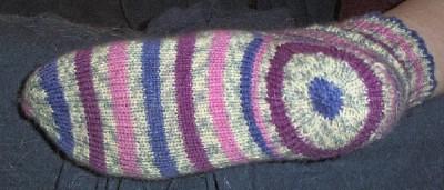 bottom of sock