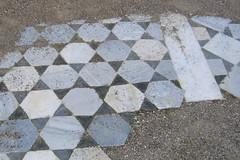 Marble floors near bath