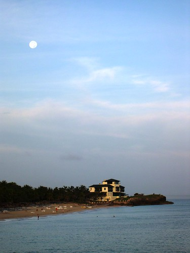 A small beach in Varadero, Cuba and of course the magic hour. The moon still