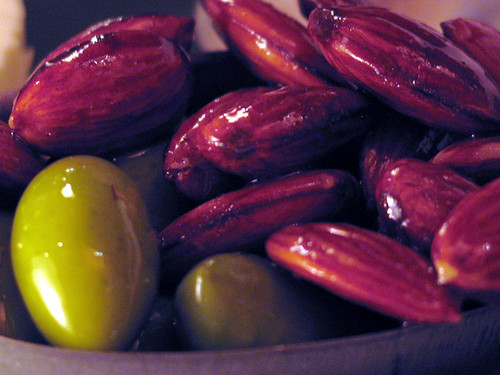 Lucques olives and toasted almonds