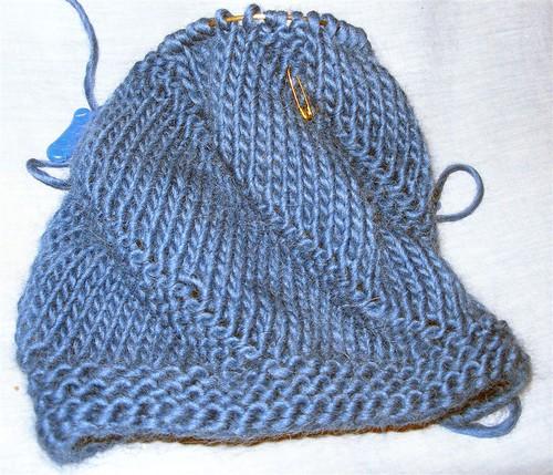 Blue Spiral Hat