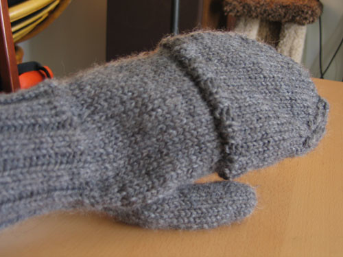 Back of mitten