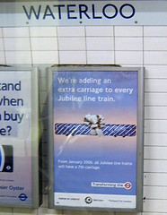 New London Underground Jubilee Line Extra Carriage Ad