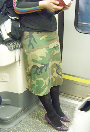 Combat Skirt and smart shoes