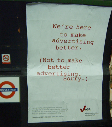 Advertising Standards Authority London Underground Ad