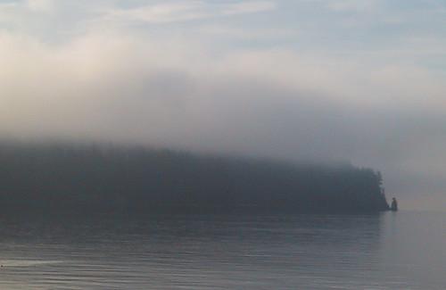 Siwash Rock, Fog