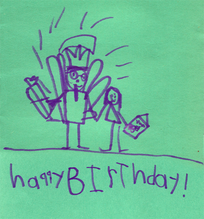 The WardOMatic Ava Thursday My Birthday Card – Strange Birthday Card