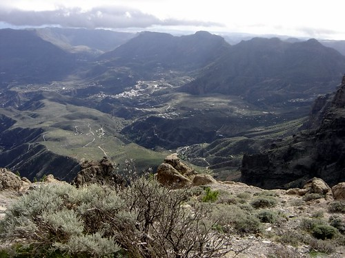 San Bartolome de Tirajana seen from Pozo de las Nieves