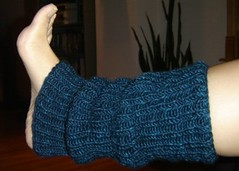 one legwarmer done!