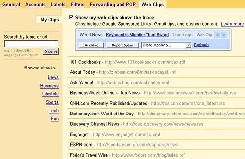 Configuración de los Web Clips
