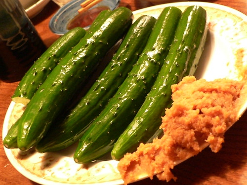 cucumber and soybeans paste