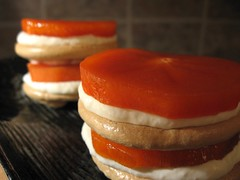 Persimmon Meringue Stacks