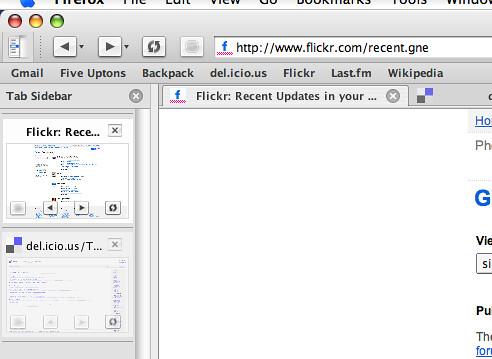 Firefox, Tab Sidebar, GrApple Theme