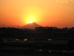 sunset behind mt fuji #1