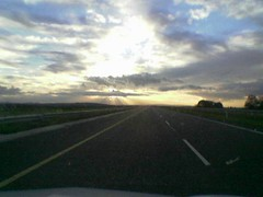 The M7, just as it's getting dark