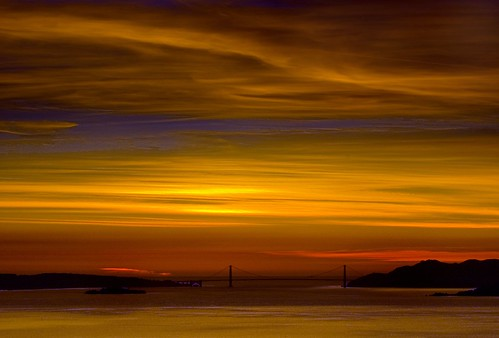 Cloudy Golden Gate Sunset