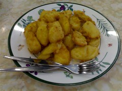 Fried Banana and Pineapple