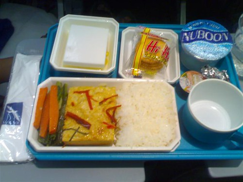 The Fishcase With Rice Meal on SilkAir
