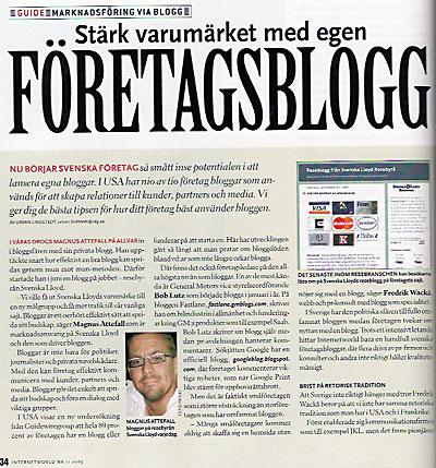 Magnus Attefall i InternetWorld 2005/11